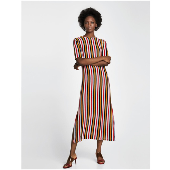 f9fc2c46 Zara Dresses | Nwt Size S Striped Maxi Shift Dress | Poshmark